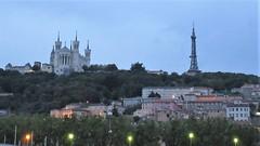 Twilight view of Fourvière, Lyon, France (Paul McClure DC) Tags: lyon france july2017 auvergnerhônealpes fourvière church historic architecture scenery