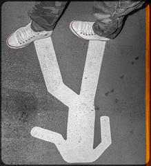 Stickman and the All Star. (CWhatPhotos) Tags: cwhatphotos flickr camera photographs photograph pics pictures pic picture image images foto fotos photography artistic that have which contain photo photos stick man road feet foot boots converse all stars walk walkway walking legs