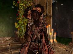 Garden of Souls (platinumthetrinity) Tags: monster girl spooky flowers candle doll cureless skeleton flesh