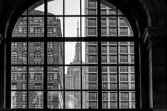 NYC (marco rubini) Tags: nyc newyorkcity metropoli empire empirestatebuilding grattacielo finestra bw bn window