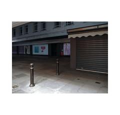 precinct (chrisinplymouth) Tags: pavement bollard night dark shadow plymouth devon england uk city cw69x xg urb diag desx