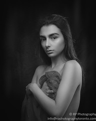 No Name (Photography by Rp) Tags: wwwrpphotographytorontocom rpphotographytoronto sfw alluring black white sensual sexy person girl woman passionate photography model beauty studio glamour lowkey hair portrait dark subtle