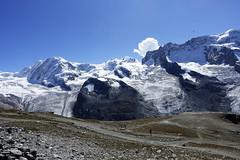 D20009.  From the Gornergratbahn. (Ron Fisher) Tags: schweiz suisse svizzera switzerland kantonwallis valais cantonvallese europa europe zermatt mountain snow glacier gletcher diealpen thealps swissalps alpessuisses schweizeralpen alpisvizzere sony sonyrx100iii sonyrx100m3 compactcamera
