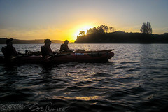 Evening kayak trip (Vurnman) Tags: newzealand vacation holiday rotorua kayak lakerotoiti