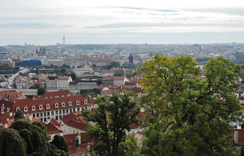 Praga (Chequia). Praga vista desde la fortaleza de Visherad