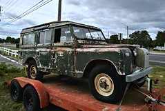 Rover who's been all over (Dave* Seven One) Tags: landrover rover import uk brittian unitedkingdom 4x4 forsale roadside junk broken used peeling flaking rusty rust rot rotted abandoned forgotten lg lgstylo4