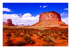 monument valley (rcfed) Tags: canon digital wideangle color landscape rock sky cloud desert