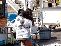 Take out! (cgwilfongphotos) Tags: people girl bicycle fishing fish harbour lahania