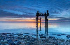 The Last Lepe (nicklucas2) Tags: seascape beach lepe dolphin cloud lowtide isleofwight sea seaweed solent sunrise
