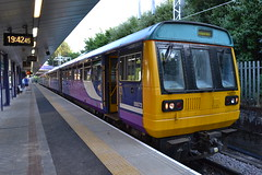 Northern Pacer 142 (Will Swain) Tags: station 5th july 2018 salford crescent greater manchester city centre north west train trains rail railway railways transport travel uk britain vehicle vehicles england english europe northern pacer 142 class