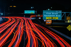 springtown boulevard exit (pbo31) Tags: bayarea california night dark color nikon d810 february 2019 boury pbo31 black lightstream traffic roadway motion red livermore 580 highway eastbay alamedacounty over