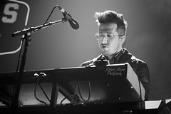 Arkells - Anthony Carone (TheSamuelYears) Tags: arkells rallycrytour winnipeg bellmtsplace keyboard anthonycarone vocalist vocals keyboardist piano venue concert concertvenue stagephotography nikon nikond3400 stage stageact live livemusic music musician musicians altrock rockband canadian canadianmusic canadianband band tour bw blackandwhite indoors inside indoor wpg