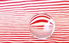 transitions (rockinmonique) Tags: globe reflection abstract red white macro bokeh moniquewphotography canon canont6s tamron tamron45mm copyright2019moniquewphotography lensball