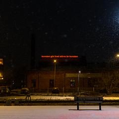 Oh roof-words, tell me your secrets (Mattias Lindgren) Tags: nikon d600 roofword winter linköping sweden 50mm f18 konsten gör livet större än takord snow 50mmf18 nikond600 konstengörlivetstörreänkonsten