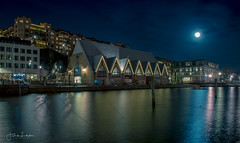 Gothenburg Night (Fredrik Lindedal) Tags: moon moonlight fullmoon city cityscape cityview night nightshot nightlights gothenburg göteborg water reflections longexposure sweden sverige
