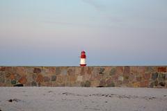 red lighthouse (ericgrhs) Tags: lighthouse leuchtturm ostsee warnemünde rostock wall mauer strand beach balticsea coast shoreline küste seaside sunset sky sonnenuntergang