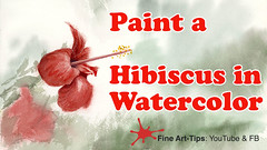 How to Paint a Red Hibiscus in Watercolor (fineart-tips) Tags: art painting finearttips flowers hibiscus watercolor tutorial artistleonardo leonardopereznieto patreon tutto3