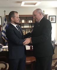 Συνάντηση Υφυπουργού Εξωτερικών Τέρενς Κουίκ με τον Έλληνα Υφυπουργό Γεωργίας της Ζιμπάμπουε Β. Χαριτάτο (Υπουργείο Εξωτερικών) Tags: κουικ υφυπεξ αθηνα ζιμπαμπουε χαριτατοσ