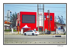 red building (harrypwt) Tags: harrypwt africa afrika westafrica canons95 s95 borders framed city street red car lagos nigeria