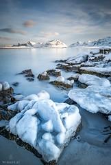 Harsh Midday Light (Wim Air) Tags: norway lofoten ice stone rock beach sand wimairat