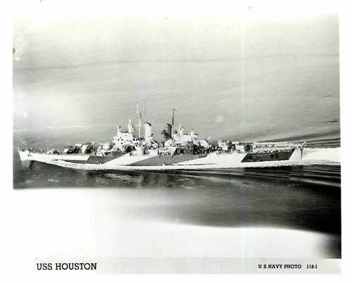 USS Houston (CL-81), Light Cruiser, WWII