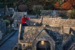 How tall is that women (Mallybee) Tags: fuji fujifilm xt3 fujinon village giant 1855mm f284 ios zoom model cotswolds houses apsc xmount xtrans buildings women red coat outside
