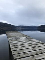Stupeplass -|- Diving board (erlingsi) Tags: innvik stupebrett fjord noreg norway nordfjord s2stryn kommune spegling