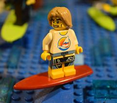 Surfer (LegoLyman) Tags: surfer bricksburg lego legolyman water wave beach lake river dolphin minifig batman