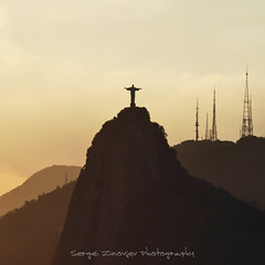 Walking around. Rio de Janeiro, Cristo Redentor (Christ the Redeemer) (Sergei Zinovjev) Tags: riodejaneiro brazil city travel tourism tourist traveling visiting visit cristoredentor christtheremeemer statue evening light mountains golden religious faith believe panasonic lumix dmcgf7 catchycolors flickrcentral flickrtoday inspirationalphotography sunset sunsetssunrisesaroundtheworld thebestofworldpicture travelphotography visittheworldthetravelguide yourpostcardshot groupwithexperience