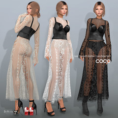 COCO New Release @ Fameshed (cocoro Lemon) Tags: coco fameshed secondlife fashion lace bustier skirt maitreya belleza slink