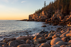 Morning stones (II) (DJM Photos) Tags: acadia maine newengland atlantic coast coastline shore shoreline ocean sea rock stone boulder morning sunrise cliff fall autumn sky