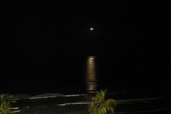 Crescent Moon over the Pacific Ocean (Mick L.) Tags: moon crescent pacific beach ocean