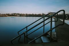 The Boating Lake... (Jess Feldon) Tags: le bigstopper steps clevedon boatinglake longexposure jessfeldon lookslikefilm pool lake coast blue swimmingpool somerset winter