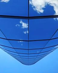 True Blue (whatsayjk) Tags: building downtown reflection blue clouds lines architecture mirror windows contrast kansascity kc minimal minimalism sky