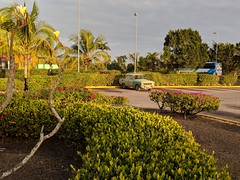 The lonely Moskovich car at the airport (lezumbalaberenjena) Tags: santa clara cuba 2019 lezumbalaberenjena airport aeropuerto abel santamaría villas villa