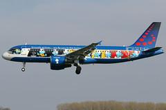 OO-SND 10042019 (Tristar1011) Tags: ebbr bru brusselsairport brusselsairlines airbus a320200 a320 oosnd peyo smurfen smurfs aerosmurf