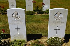 DSC07640 (PaulHP) Tags: ww2 world war 2 headstone grave france bayeux military cemetery british normandy corporal charles beresford simpson service number 4460695 14th june 1944 9th bn battalion dli durham light infantry mm medal lucy washington station co gladys kimblesworth serjeant jw jospeh william young 4464185 john florence clara forest hall northumberland cwgc battle