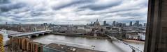 A view from the Tate-London (jimmedia) Tags: london city thames river tate st pauls bridge dock capital pano boat sky cloud grey