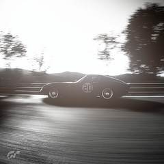 Passes By (Mr. Pebb) Tags: 2seater 2door twoseater twodoor ps4 ps4pro playstation4pro playstation4 sunlight light desaturated blackandwhite bw blackwhite classic car videogame photomode screencapture screenshot videogamecapture stockshot stock racinggame racegame gtsport granturismosport pd sony playstation consolegaming polyphonydigital polyphony sonyinteractiveentertainment 11 2160x2160 portraitformat portrait portraitmode inmotion moving motion ferrari 250gto side rearwheeldrive rwd frontengined frontengine grandtourer v12 fr tipo168comp6260º 3litre berlinetta sportscar granturismo tree trees scenery racingcircuit racecircuit racetrack racingtrack tarmac