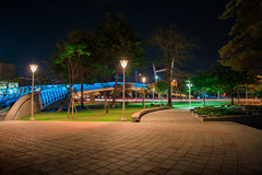 愛河之星 | 高雄Kaohsiung (ibgsaker) Tags: kaohsiung taiwan bridge night park art canon