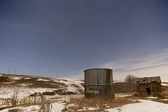 No Shooting? too bad (John Andersen (JPAndersen images)) Tags: airdrie alberta aurora canon farm fence granary night spring stars