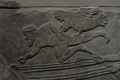 """Vulture"" feeding on dead body after battle (PChamaeleoMH) Tags: assyrian britishmuseum frieze london museum relief"