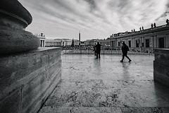 Vaticano... (Dmitry Marin) Tags: cathedral sanpietro piazzasanpietro xf1024 fujifilm fujifilmru xt20 blancoynegro blackwhite blackandwhite bw travel traveling vaticano