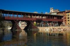 ponte degli alpini (akabolla) Tags: pontedeglialpini alpini bassanodelgrappa fiume