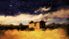 Twighlight at the Mariscal mine ghost town. Painterly impression. (Richard Denney) Tags: mariscalmine bigbendnationalpark nationalregisterofhistoricplaces painterly sky stars abstract impressionistic abandoned ruins mine desert