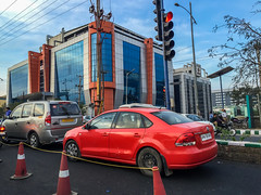 Heading Back To The Hotel (Harold Brown) Tags: architecture automobile building car hyderabad india infotech mahindra office outdoor sky telangana transportation travel vw vehicle volkswagen bhagavideocom clouds haroldbrowncom harolddashbrowncom highway iphone6 photosbhagavideocom road haroldbrown