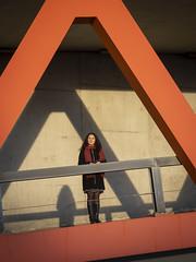 Laura, Rotterdam 2019: Triangles (mdiepraam (35 mln views)) Tags: laura rotterdam 2019 portrait pretty attractive beautiful elegant classy gorgeous dutch brunette girl woman lady naturalglamour curls coat scarf boots stockings tights nylons