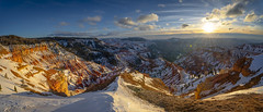 Gingerbread Landscape (ihikesandiego) Tags: cedar breaks national park snow sunset
