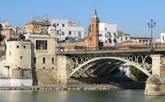 Triana Bridge/Guadalquivir River, Seville, Spain (geoff-inOz) Tags: triana buildings bridge river heritage architecture seville andalusia spain goldenratio
