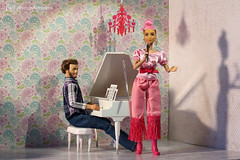 ABBA mania (photos4dreams) Tags: dress barbie mattel doll toy photos4dreams p4d photos4dreamz barbies girl play fashion fashionistas outfit kleider mode puppenstube tabletopphotography diorama scenes 16 canoneos5dmark3 rosa hair rose haar